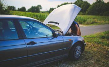 po wypadku samochodowym, samochód często nie może się poruszać
